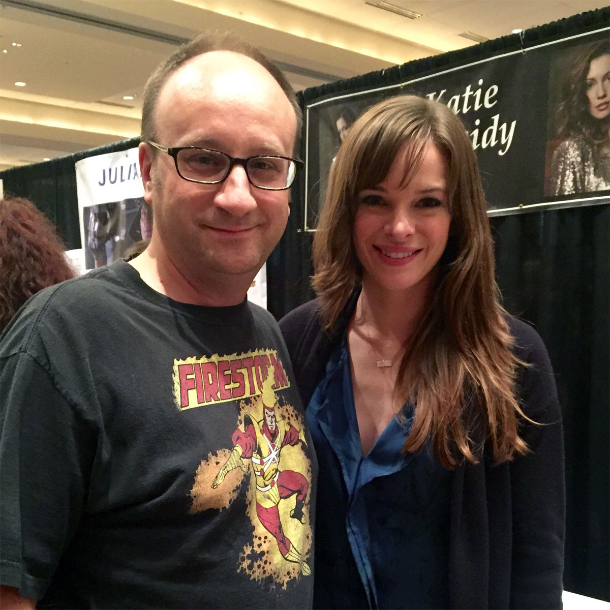 Danielle Panabaker - Dr Caitlin Snow - Killer Frost on The Flash - and Firestorm Fan at Dragon Con 2015