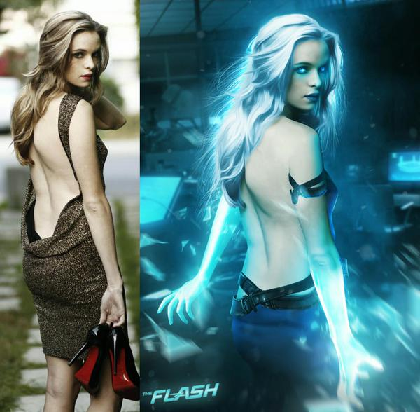 Danielle Panabaker as Killer Frost fan art by BossLogic