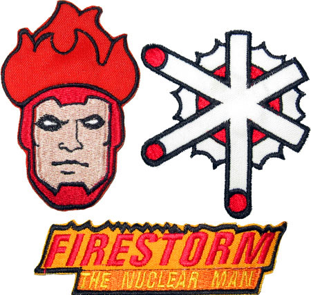 Firestorm Super Powers Embroidered Patches