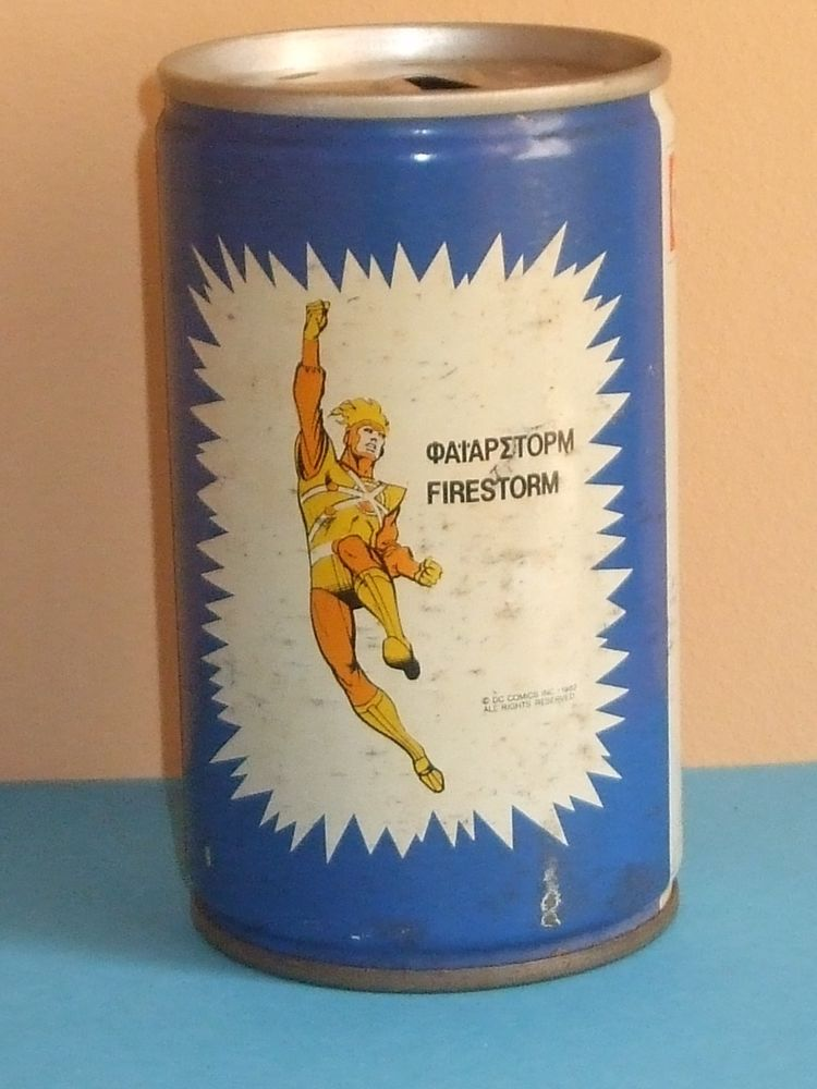 Firestorm Pepsi Can from Greece 1982
