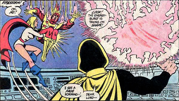 Power Girl and Firestorm romantic flirting - Justice League of America #219 by Chuck Patton