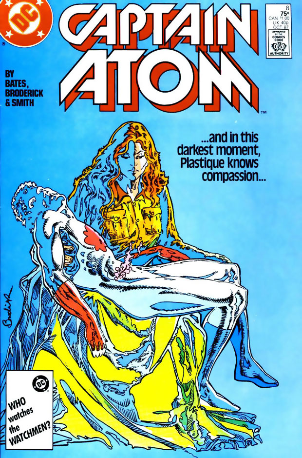 Plastique knows compassion in Captain Atom #8