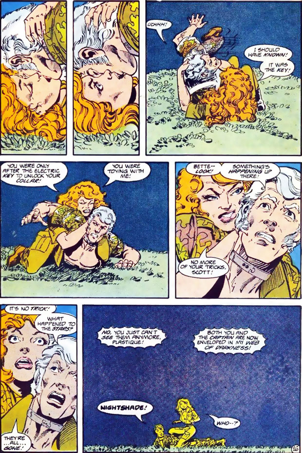 Captain Atom tries to seduce Plastique in Captain Atom #22