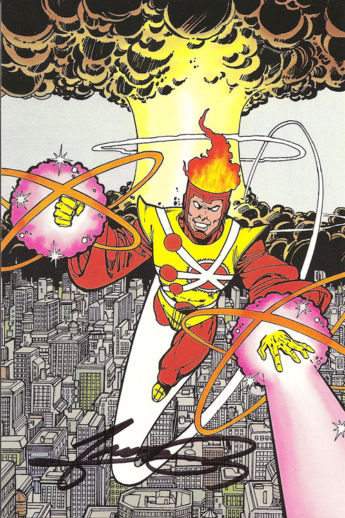 George Perez 1984 Firestorm from JLA postcard set