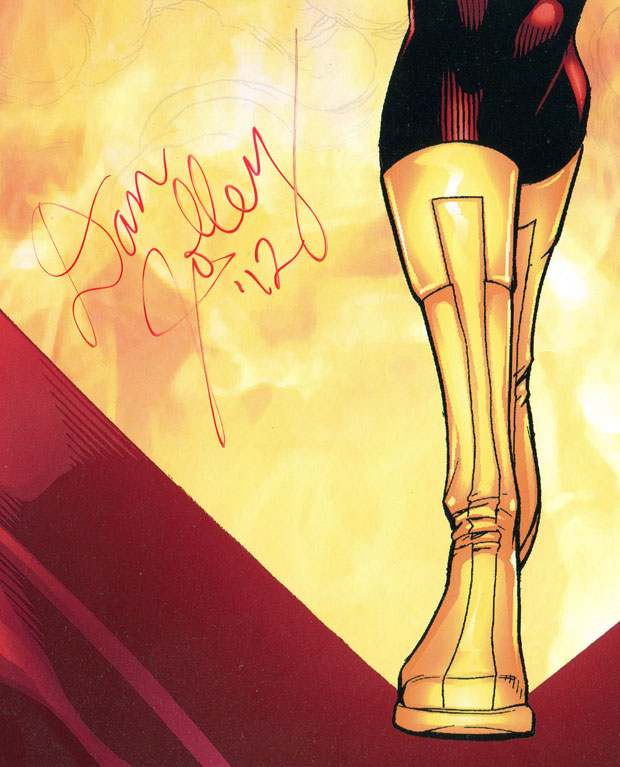 Firestorm poster signed by Dan Jolley
