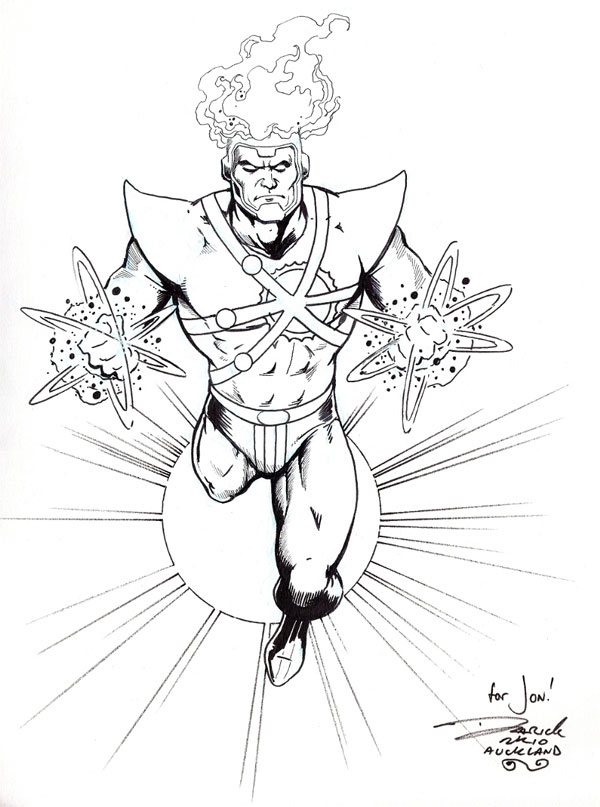 Firestorm sketch by Darick Robertson from fizzit-fzam.blogspot.com
