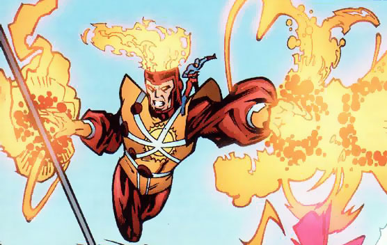 Ronnie Raymond as Firestorm with Ray Palmer as the Atom