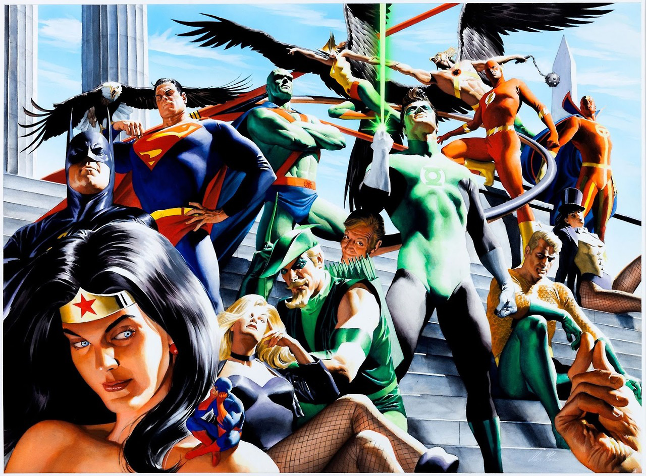 Alex Ross draws the Justice League of America ... but not Firestorm