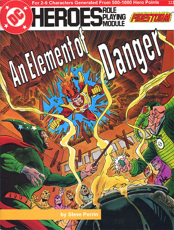 Mayfair DC Heroes RPG Module: An Element of Danger starring Firestorm