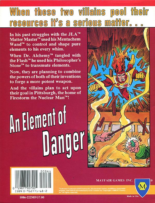 Mayfair DC Heroes RPG Module: An Element of Danger starring Firestorm