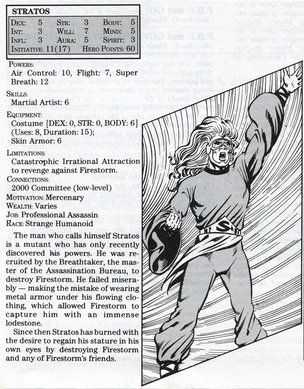 Stratos - Mayfair DC Heroes RPG Module: An Element of Danger starring Firestorm