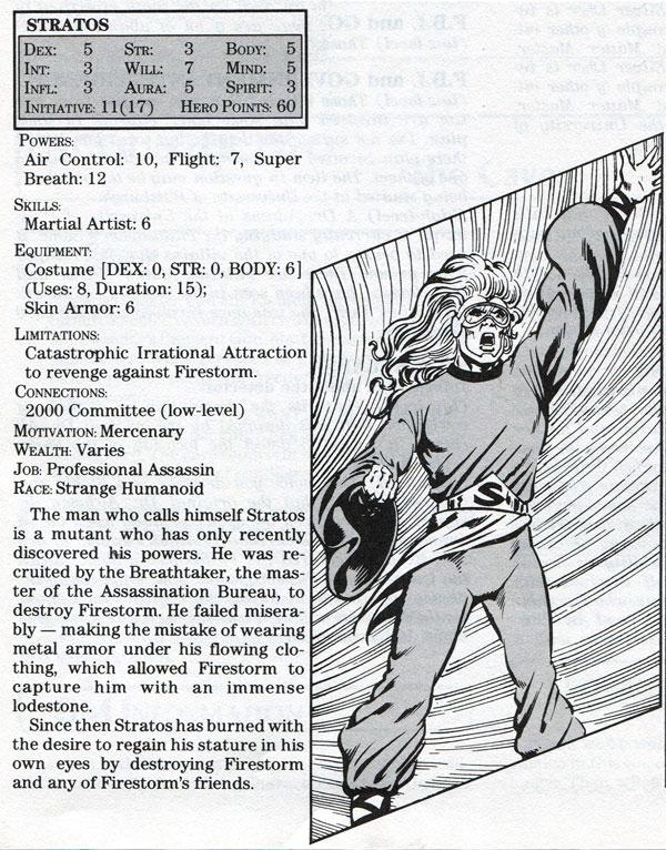 Stratos - Mayfair DC Heroes RPG Module: An Element of Danger starring Firestorm