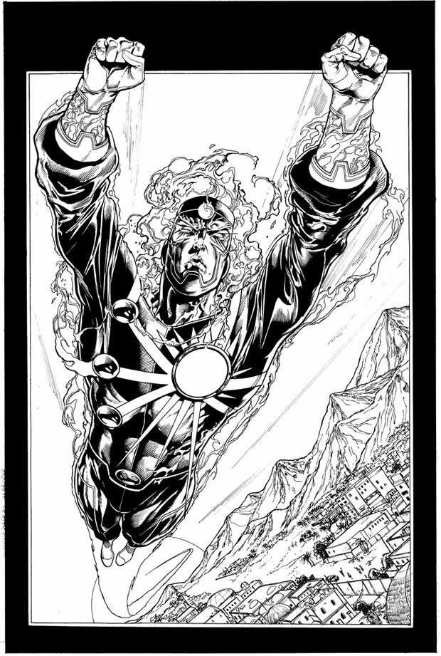 Ronnie Raymond as Firestorm, interior art by Ethan Van Sciver