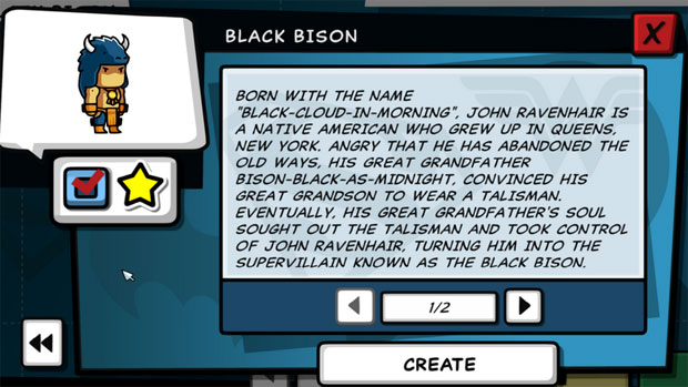 Scribblenauts Unleashed Black Bison