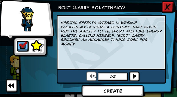 Scribblenauts Unleashed Bolt
