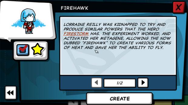 Scribblenauts Unleashed Firehawk