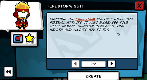 Scribblenauts Unleashed Firestorm suit for Maxwell