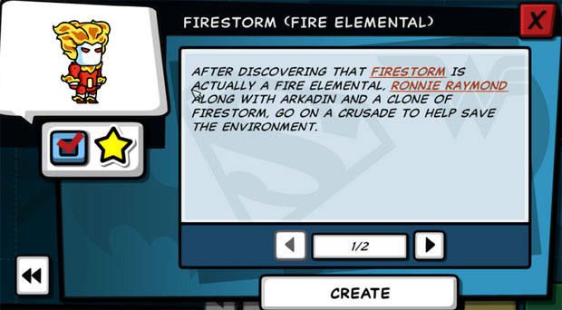 Scribblenauts Unleashed Firestorm Elemental