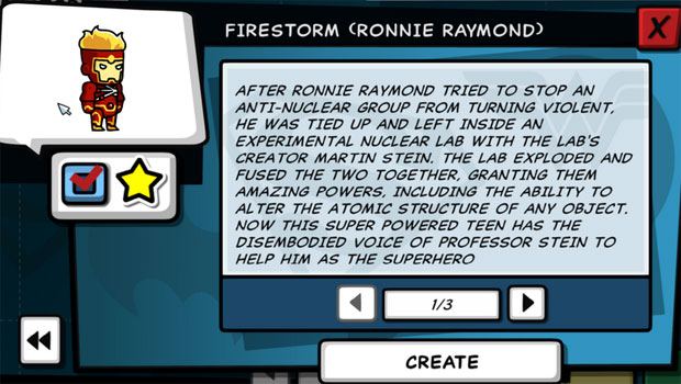 Scribblenauts Unleashed Firestorm Ronnie Raymond