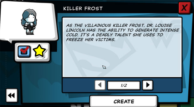 Scribblenauts Unleashed Killer Frost