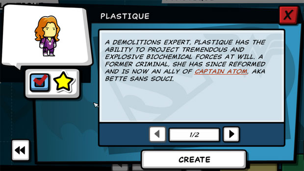 Scribblenauts Unleashed Plastique