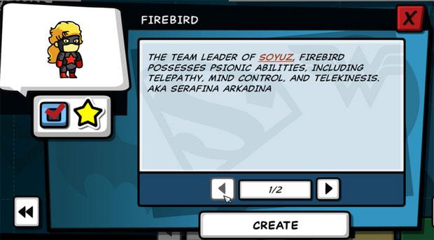 Scribblenauts Unmasked Soyuz Firebird