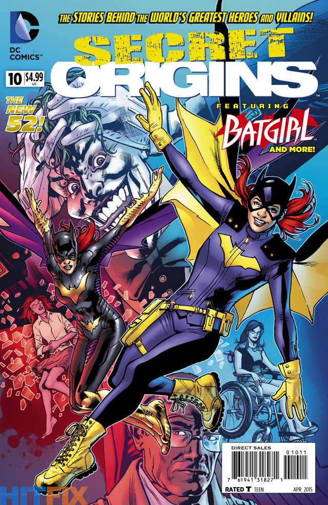 Secret Origins #10 cover featuring Batgirl