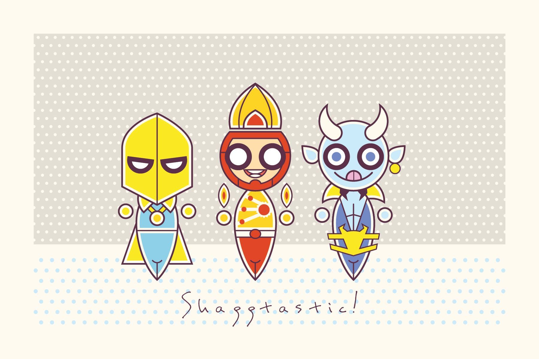 Firestorm, Doctor Fate, and Blue Devil are Shaggtastic by Luke Daab