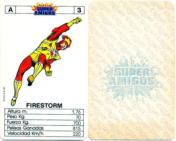 Super Amigos Firestorm card