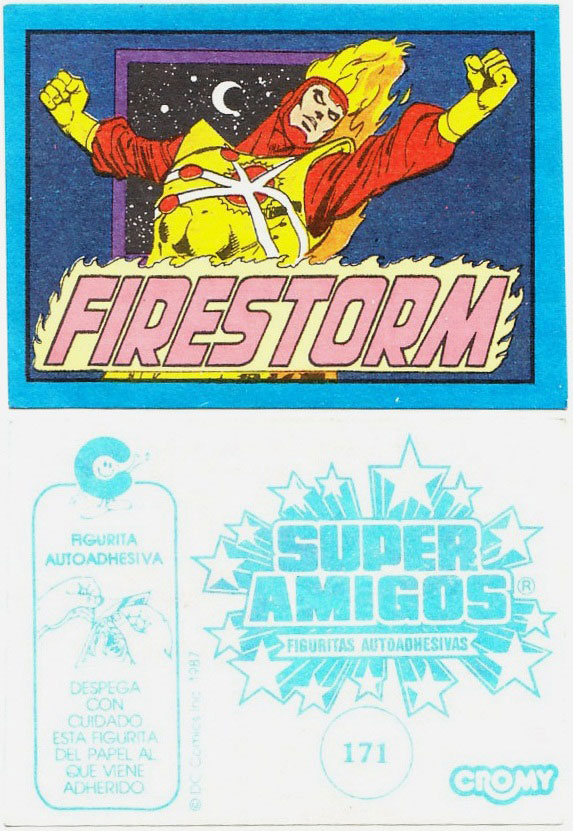 Super Amigos Firestorm sticker