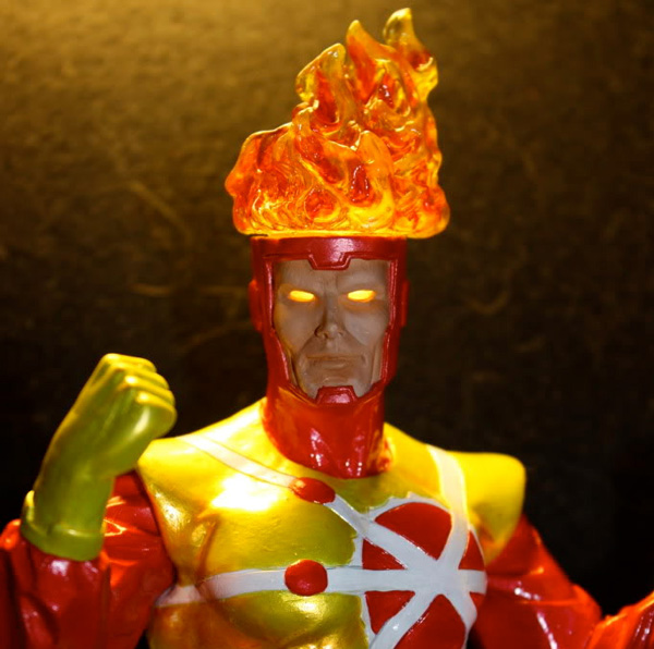 Firestorm custom statue by jimM and Jesse321