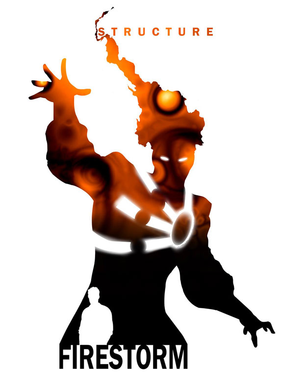 Steve Garcia's Firestorm Silhouette Art on Facebook