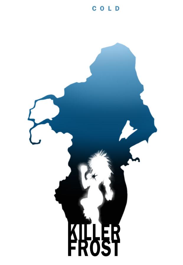 Steve Garcia's Killer Frost silhouette on deviantART