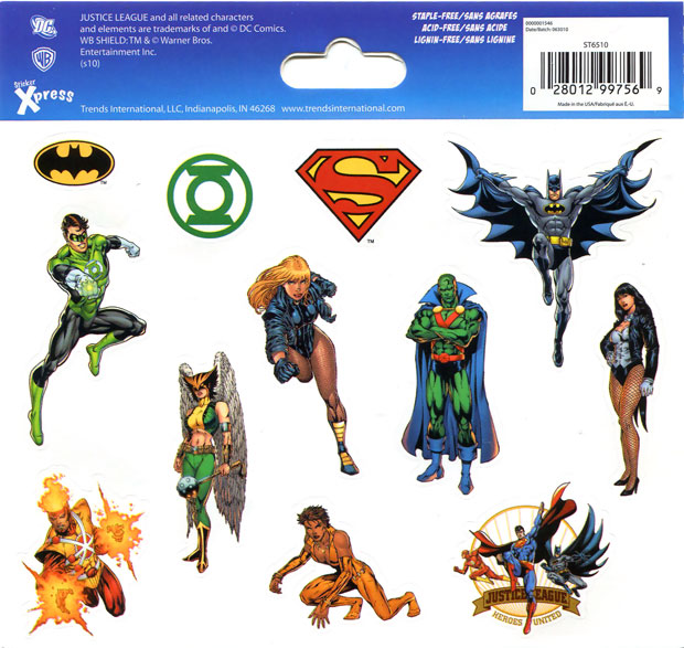 Justice League stickers featuring Firestorm