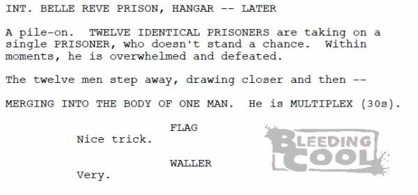 Suicide Squad film script featuring Multiplex