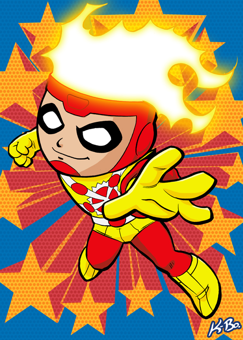 Super Powers Firestorm Art Card by Kevin Bolk