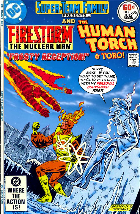Super-Team Family: Firestorm and Human Torch & Toro