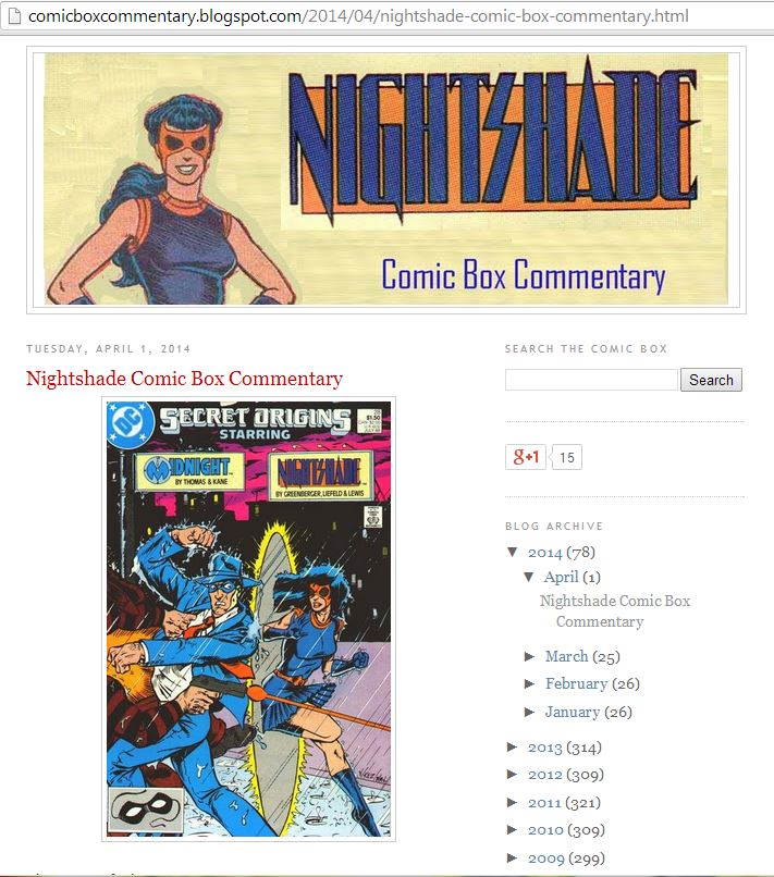 Comic Box Commentary Supergirl redesigned as a Nightshade blog