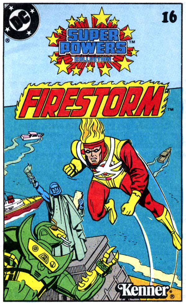 Super Powers Collection Firestorm mini-comic cover with Mantis