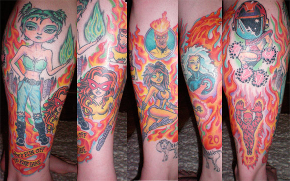 superhero tattoos. Amazing Firestorm Tattoos