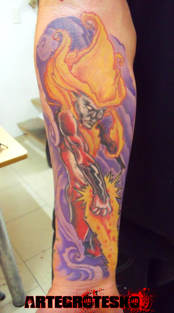 Firestorm Elemental Tattoo by artegroteskotattoo