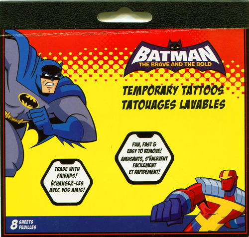 Batman: The Brave and the Bold Temporary Tattoos
