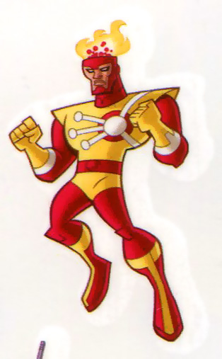 Firestorm temporary tattoo from Batman: The Brave and the Bold