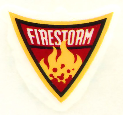 Firestorm logo temporary tattoo from Batman: The Brave and the Bold