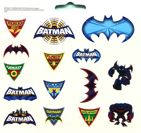 Temporary tattoos from Batman: The Brave and the Bold