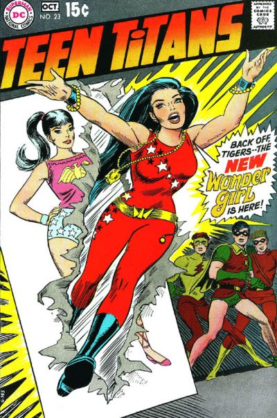 Teen Titans #23 cover by Nick Cardy