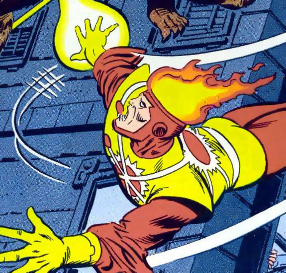 Firestorm the Nuclear Man #4 cover drawn by Al Milgrom