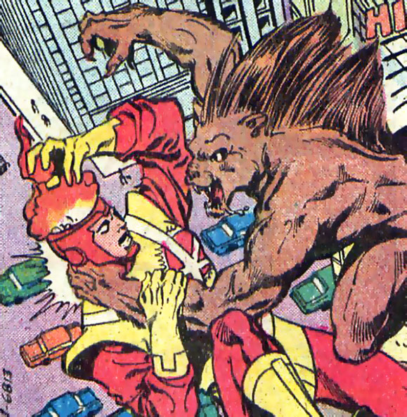 Firestorm in Flash #292 drawn by George Perez and Bob Smith