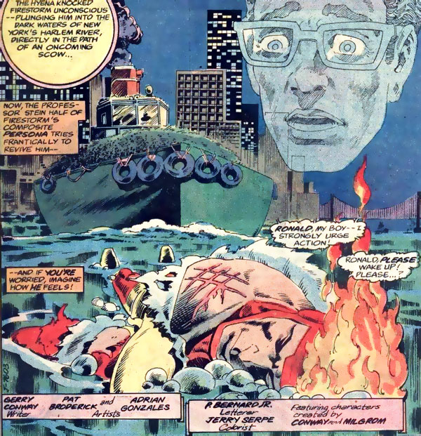 Firestorm in Flash #303 drawn by Pat Broderick and Adrian Gonzales