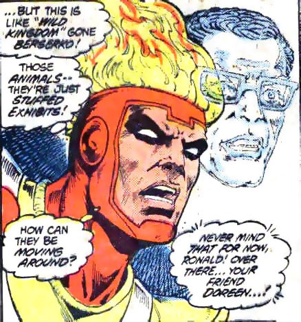 Fury of Firestorm the Nuclear Man #1 drawn by Pat Broderick and Rodin Rodriguez